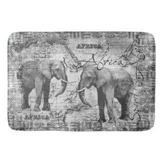 African Elephants Bathroom Mat