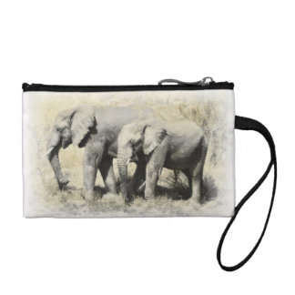 African Elephants Coin Purse