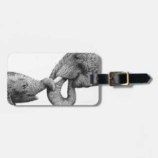 African Elephants Luggage Tag