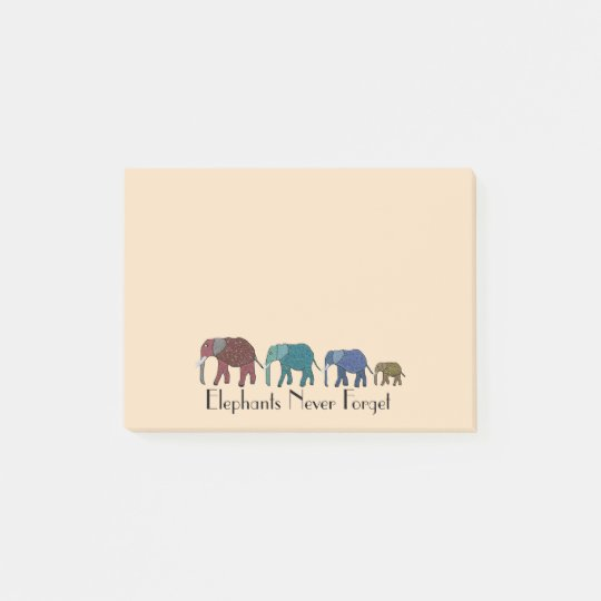 African Elephants Post-it® Notes 4 x 3