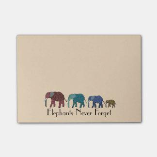 African Elephants Post-it® Notes 4 x 3