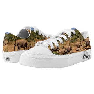 African Elephants Safari Wildlife Low Top Shoes