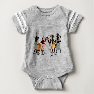 African Ethnic Native tribal design Baby Bodysuit