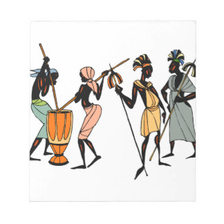 African Ethnic Native tribal design Notepad