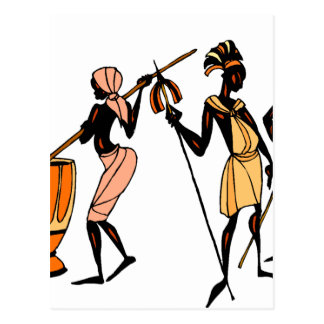 African Ethnic Native tribal design Postcard