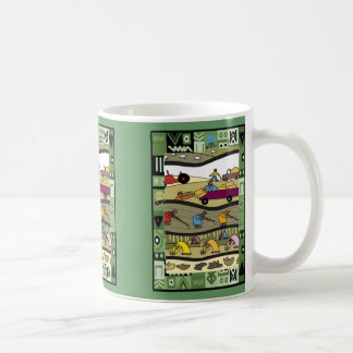 African farmers at work coffee mug