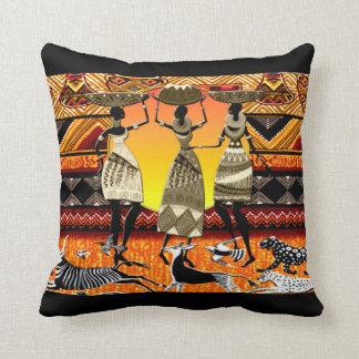 African Feast Throw Pillow