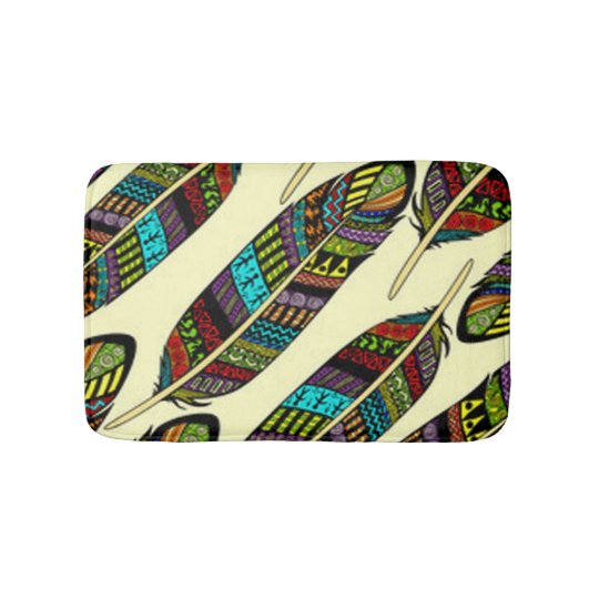African Feathers Bath Mat