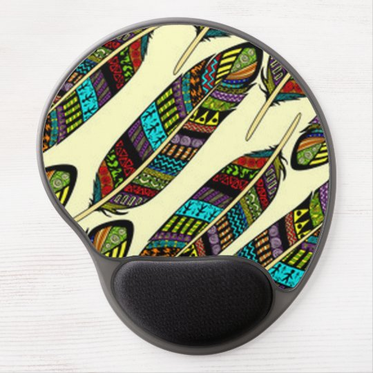 African Feathers Gel Mouse Pad