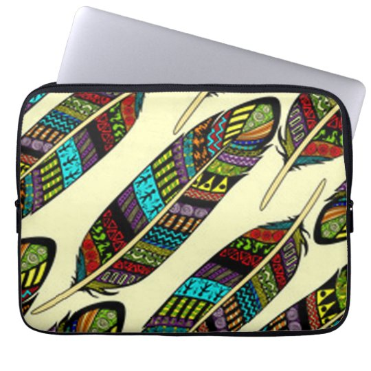 African Feathers Laptop Sleeve