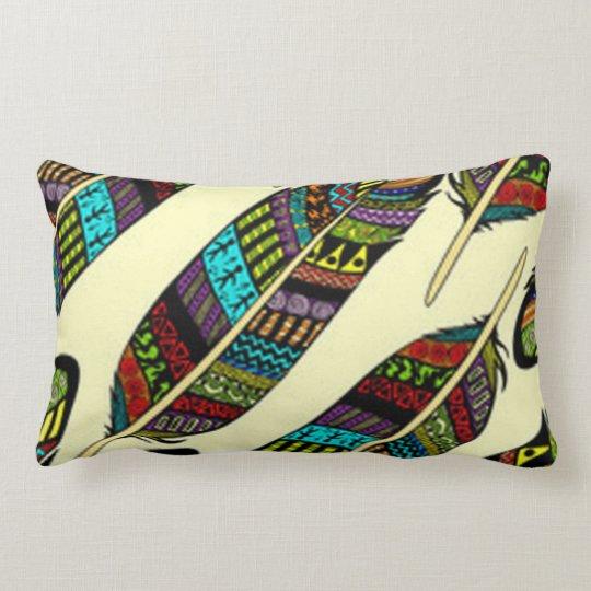 African Feathers Lumbar Pillow