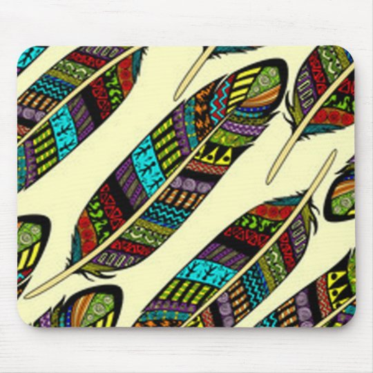 African Feathers Mouse Pad