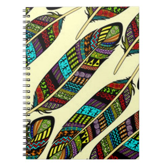 African Feathers Notebook