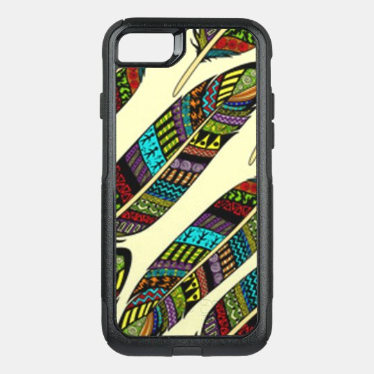African Feathers OtterBox Commuter iPhone 8/7 Case