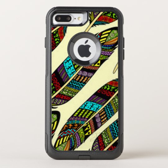 African Feathers OtterBox Commuter iPhone 8 Plus/7 Plus Case