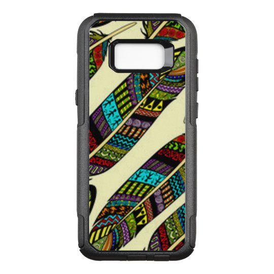 African Feathers OtterBox Commuter Samsung Galaxy S8+ Case