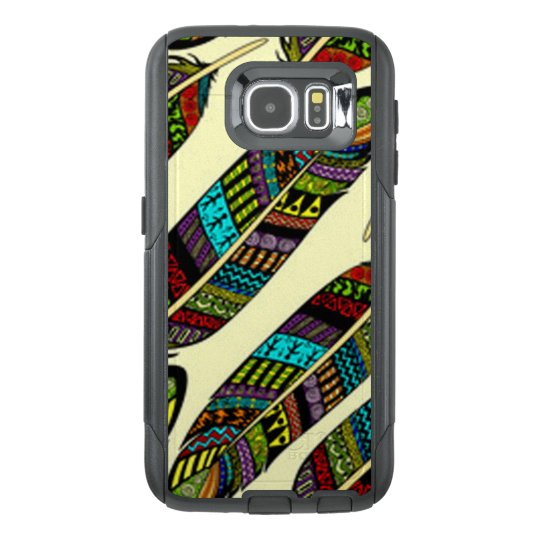 African Feathers OtterBox Samsung Galaxy S6 Case