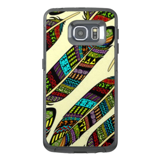 African Feathers OtterBox Samsung Galaxy S6 Edge Case