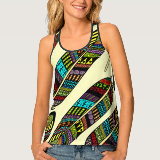 African Feathers Tank Top