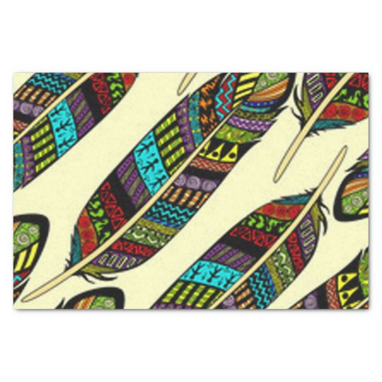 African Feathers Tissue Paper
