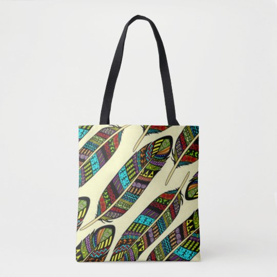 African Feathers Tote Bag
