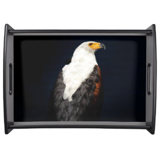 African fish eagle serving tray