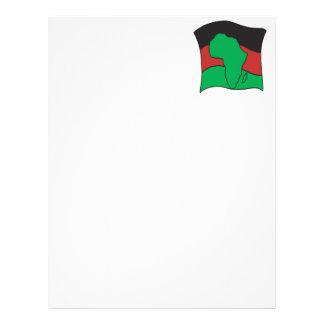 African Flag Letterhead Design