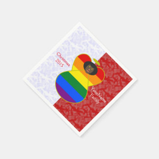 African Gay Pride Rainbow Flag Angel Red White Disposable Napkin