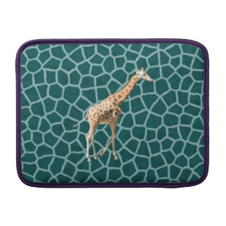 African Giraffe on Blue Camouflage Sleeve For MacBook Air