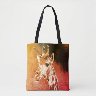 African Giraffe Tote For Beach Or Shopping
