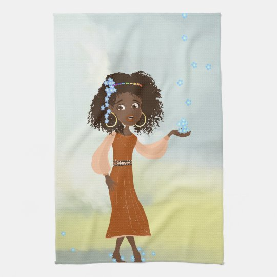African girl American MoJo Kitchen Towels