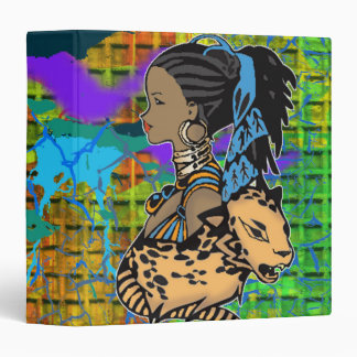 African Girl and Tiger Avery Binder