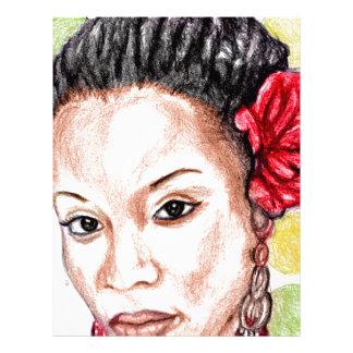African Girl Custom Letterhead