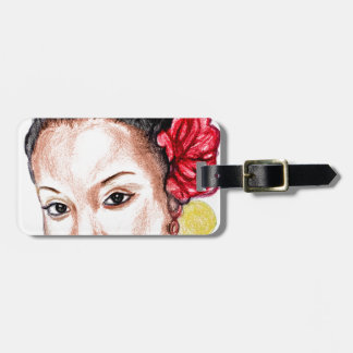 African Girl Luggage Tag