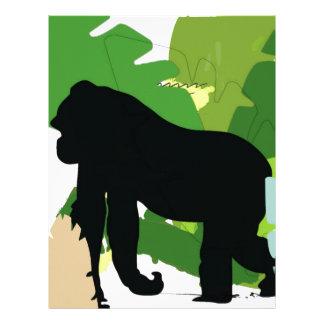 African gorilla custom letterhead