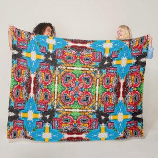 African Graffiti Art Mandala Fleece Blanket