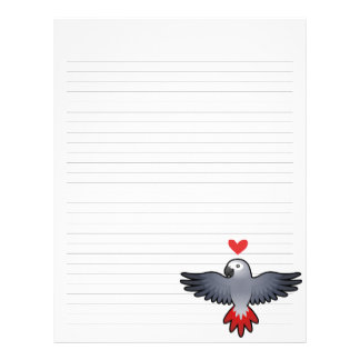 African Grey / Amazon / Parrot Love Letterhead Template