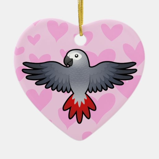 African Grey / Amazon / Parrot Love Christmas Tree Ornaments
