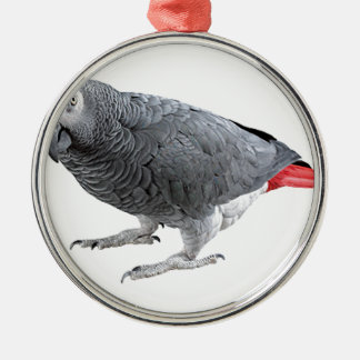 """""""African Grey"""" design gifts and products Silver-Colored Round Ornament"""