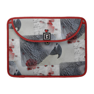 African Grey Love Letters Sleeve For MacBooks