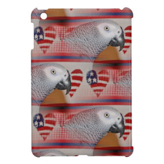 African Grey Parrot 4th of July iPad Mini Cover