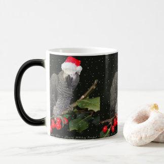 African Grey Parrot Holiday Season Magic Mug