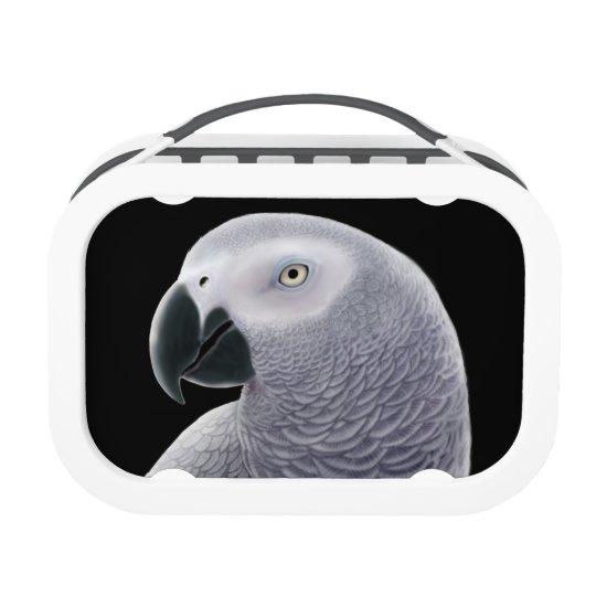 African Grey Parrot Portrait Lunchbox