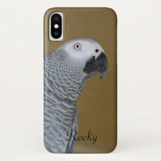 African Grey Parrot Profile iPhone X Case
