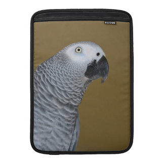 African Grey Parrot Profile MacBook Air Sleeves