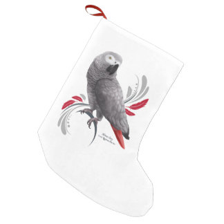 African Grey Parrot Small Christmas Stocking