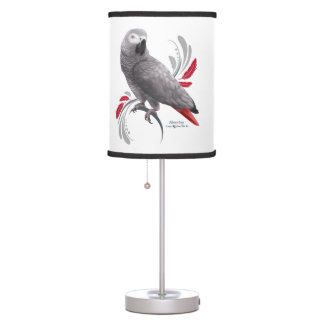 African Grey Parrot Table Lamp