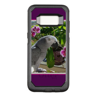 African Grey Parrot with Orchids OtterBox Commuter Samsung Galaxy S8 Case