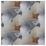 African Grey Pattern Fabric