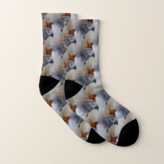 African Grey Pattern Socks